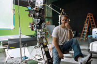 Director Brian Robbins on the set of the film