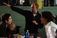Chris Marquette, Justin Chatwin and David S. Goyern the set of the film