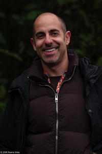 David S. Goyer on the set of the film