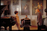 Vitus (Teo Gheorghiu) and his mother (Julika Jenkins) meet acclaimed pianist Rektorin (Annelore Sarbach) for a lesson in
