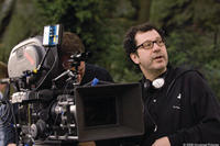 Director Adam Brooks on the set of
