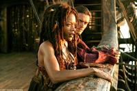 Naomie Harris and Orlando Bloom in
