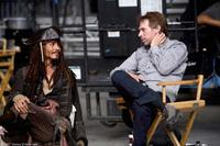 Johnny Depp and director Gore Verbinski on the set of