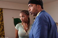 Vivica A. Fox and Miguel A. Núñez Jr. in