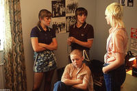 Chanel Cresswell as Kelly, Vicky McClure as Lol, Danielle Watson as Trev and Thomas Turgoose as Shaun in