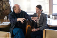 Director Paul Haggis and Charlize Theron on the set of