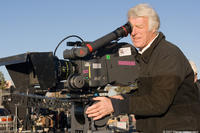 Cinematographer Roger Deakins on the set of