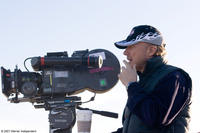 Director Paul Haggis on the set of