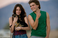 Emile Hirsch and Kristen Stewart in