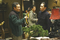 Director Ang Lee and Tony Leung Chiu-Wai on the set of