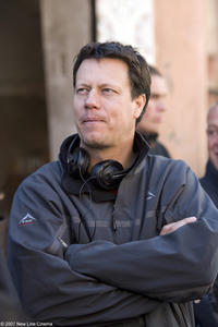 Director Gavin Hood on the set of