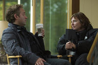 Producer Sam Mendes and director Susanne Bier on the set of