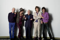 Charlie Watts, Keith Richards, director Martin Scorsese, Mick Jagger and Ron Wood in