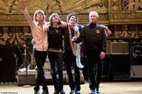 Mick Jagger, Ronnie Wood, Keith Richards and Charlie Watts, onstage at the Beacon Theater in