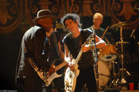Buddy Guy, Keith Richards and Charlie Watts performing onstage at the Beacon Theater in