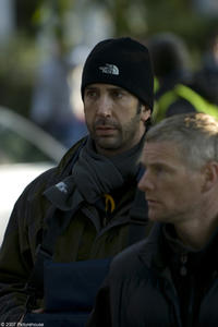 Director David Schwimmer on the set of