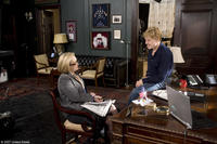 Meryl Streep and director Robert Redford on the set of