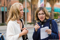 Maria Bello and director Robin Swicord on the set of
