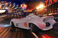 Emile Hirsch as Speed Racer driving the Mach 6 in
