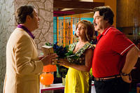 Roger Allam as Royalton, Susan Sarandon as Mom Racer, and John Goodman as Pops Racer in