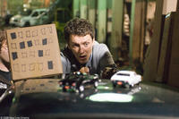 Director Michel Gondry on the set of