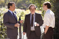 Tom Hanks, Philip Seymour Hoffman and Christopher Denham in