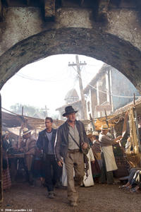 Harrison Ford is back as Indiana Jones, co-starring with Shia LaBeouf (left) in