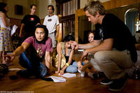 Robert Hoffman on the set of