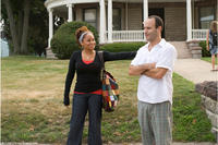 Raven Symone and director Roger Kumble on the set of