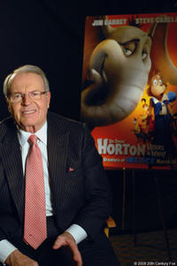 Newsman Charles Osgood as the narrator on the set of