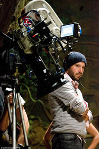 Director Carter Smith on the set of