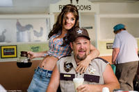 Jenny McCarthy and Larry the Cable Guy in