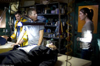 Jay Hernandez as Jake, Greg Germann as Lawrence and Jennifer Carpenter as Angela in