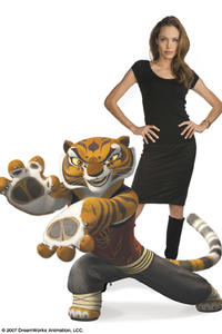 Angelina Jolie voices the bold and strong Tigress, one of the legendary Furious Five, in
