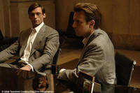 Wyatt (Hugh Jackman) and Jonathan (Ewan McGregor) in