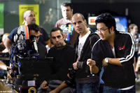 Director Kevin Tancharoen on the set of