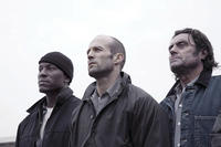 Machine Gun Joe (Tyrese Gibson), Jensen Ames (Jason Statham) and Coach (Ian McShane) in