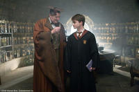 Jim Broadbent as Professor Horace Slughorn and Daniel Radcliffe as Harry Potter in Warner Bros. Pictures' fantasy