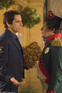 Ben Stiller as Larry Daley and Alain Chabat as Napoleon in