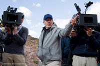Director Ridley Scott on location for