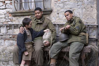 Matteo Sciabordi as Angelo, Omar Benson Miller as Sam and Michael Ealy as Bishop in