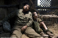 Omar  Benson Miller as Sam and Matteo Sciabordi as Angelo in