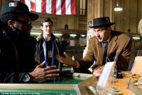 Spike Lee, Joseph Gordon-Levitt and John Turturro on the set of
