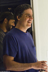 Director Miguel Arteta on the set of