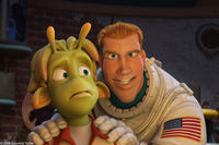 Lem (voiced by Justin Long) and Chuck (voiced by Dwayne Johnson) in