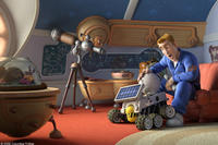 Rover and Chuck (voiced by Dwayne Johnson) in
