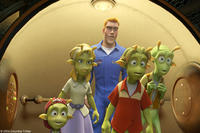 Eckle (voiced by Freddie Benedict), Neera (voiced by Jessica Biel),Chuck (voiced by Dwayne Johnson), Lem (voiced by Justin Long) and Skiff (voiced by Seann William Scott) in