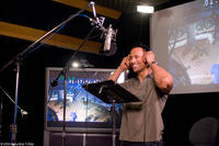 Dwayne Johnson on the set of