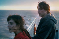 Ben (Greg Timmermans) and Scarlite (Laura Verlinden) overlooking the water in