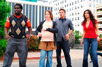 Calvin (Gary 'G-Thang' Johnson), Juney (Crista Flanagan), Will (Matt Lanter) and Lisa (Kim Kardashian) in